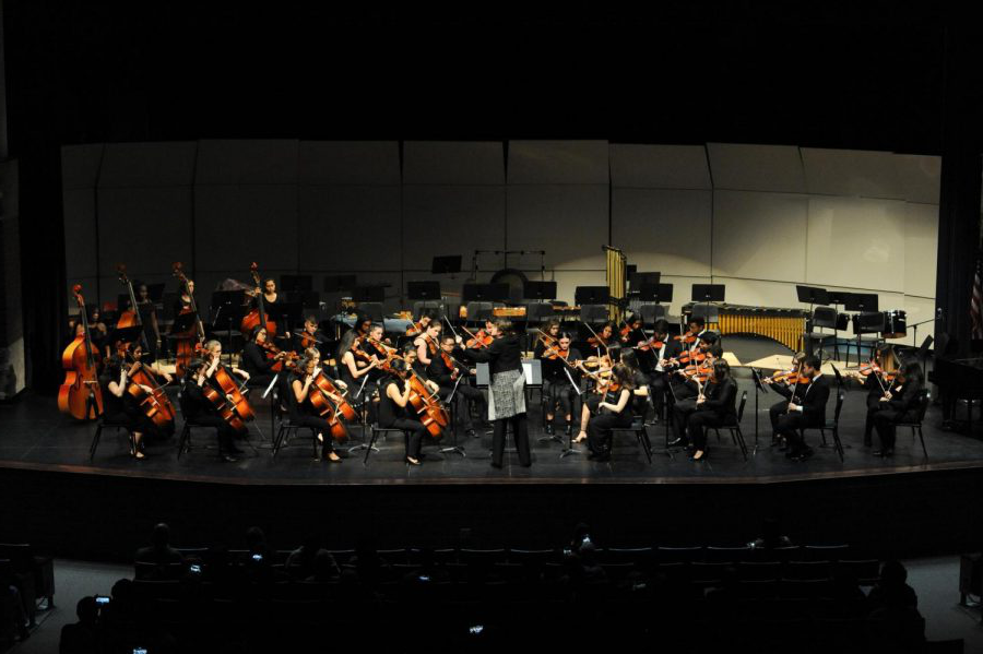This year, for the first time, music department concerts will be held virtually. This image shows a past year